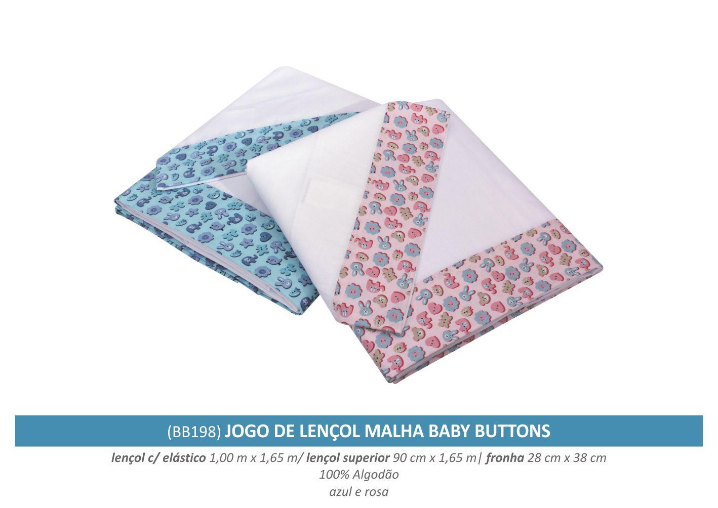 9558e58e4 jogo de lençol malha baby buttonsBerço
